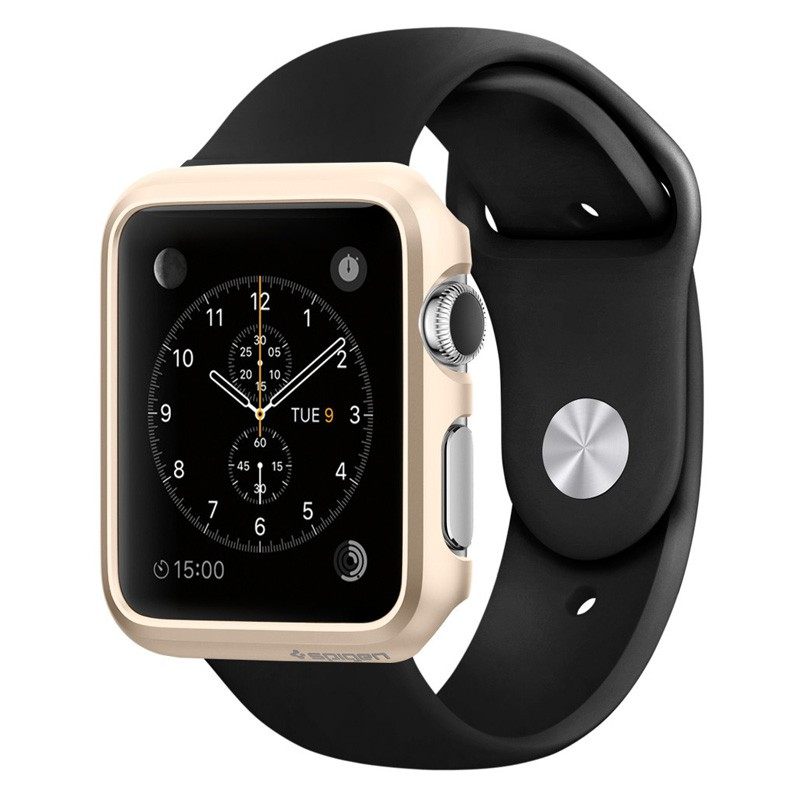 Spigen Thin Fit Case Apple Watch 42mm Gold - 1