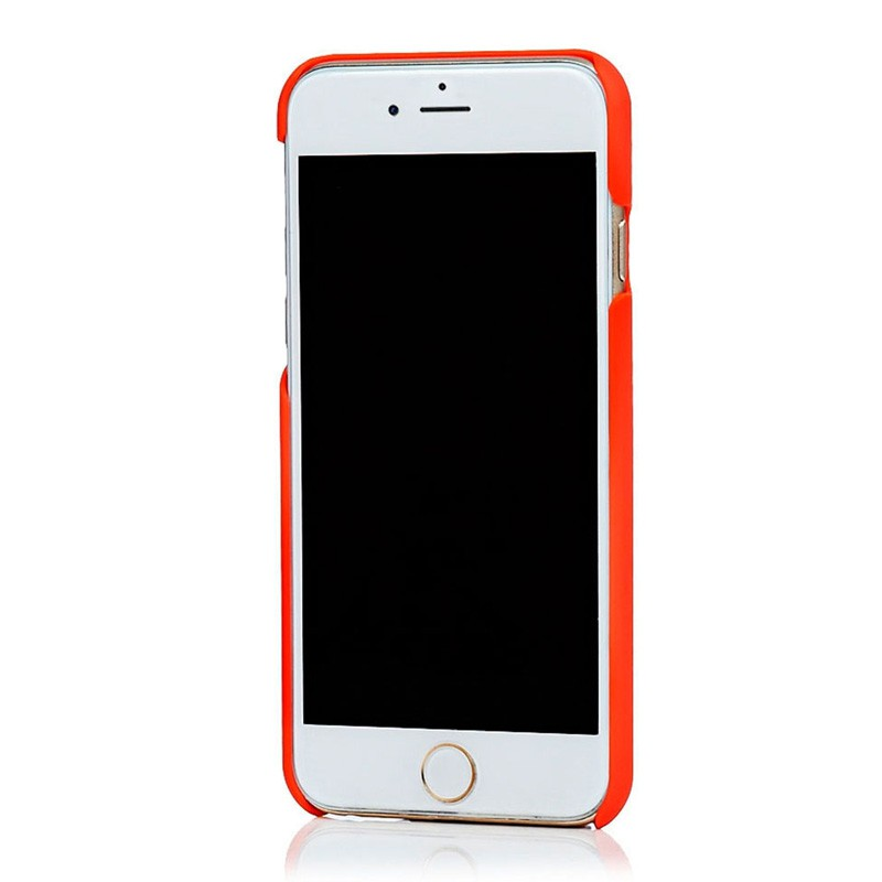 Knomo Leather Snap Case iPhone 6 Plus Tomato - 3