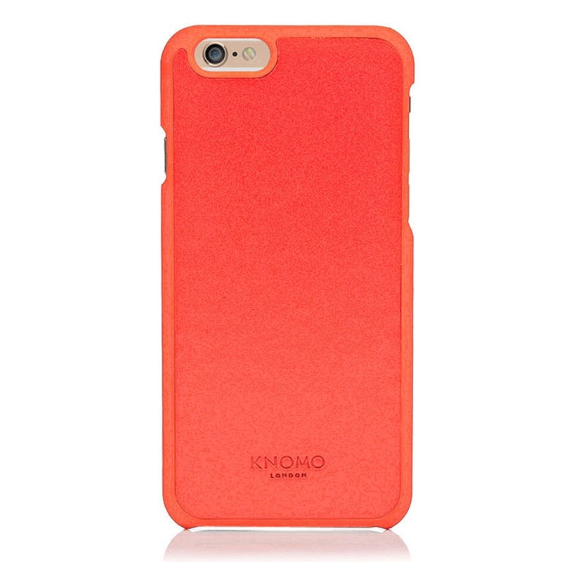 Knomo Leather Snap Case iPhone 6 Plus Tomato - 1