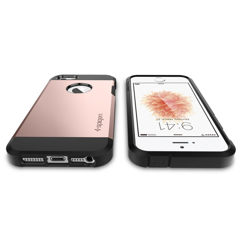 Spigen Tough Armor Case iPhone SE / 5S / 5 Rose Gold - 5