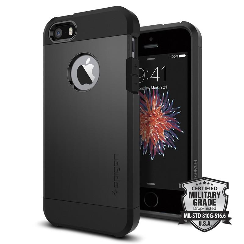 Spigen Tough Armor Case iPhone SE / 5S / 5 Black - 4