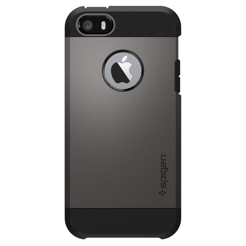 Spigen Tough Armor Case iPhone SE / 5S / 5 Gunmetal - 1