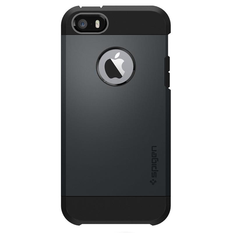 Spigen Tough Armor Case iPhone SE / 5S / 5 Slate Metal - 1