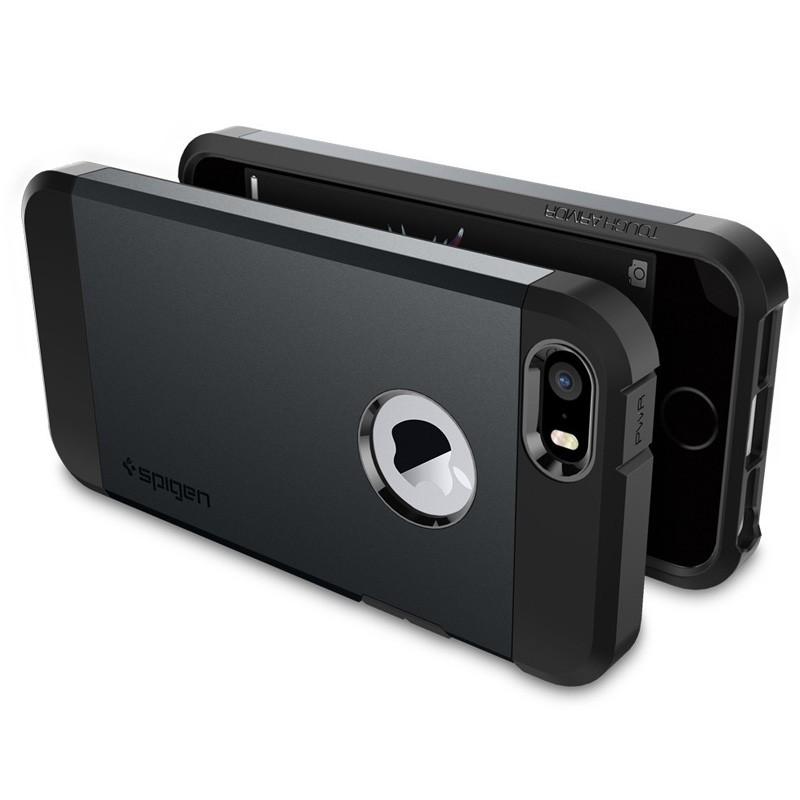 Spigen Tough Armor Case iPhone SE / 5S / 5 Slate Metal - 5