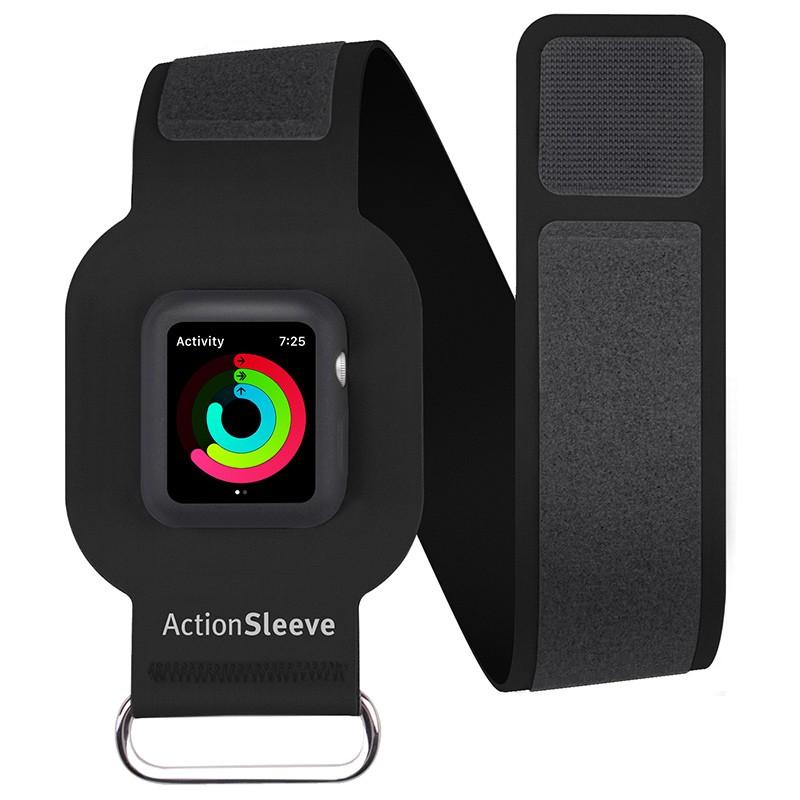Twelve South - ActionSleeve voor Apple Watch 38mm Black 0