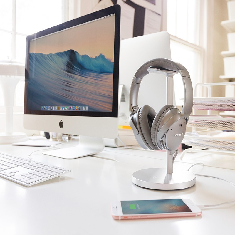 Twelve South - Fermata Headphone Charging Stand Silver 05