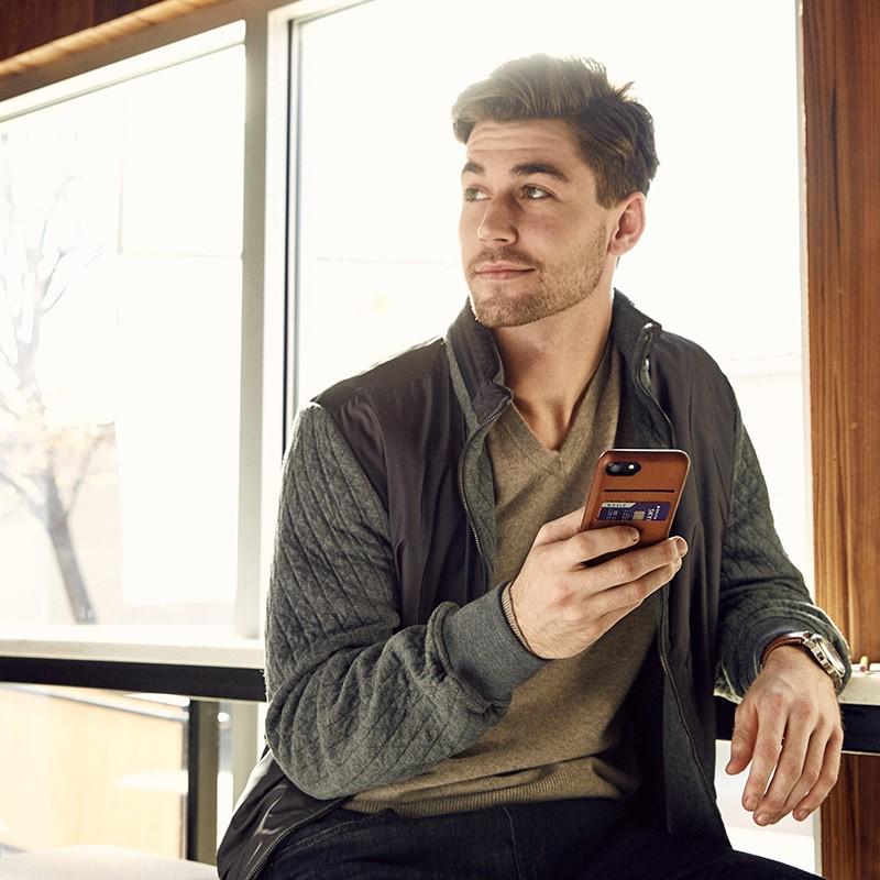 Twelve South - RelaxedLeather iPhone 7 Plus Wallet hoesje Cognac 04