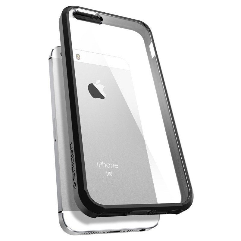 Spigen Ultra Hybrid Case iPhone SE / 5S / 5 Black - 5