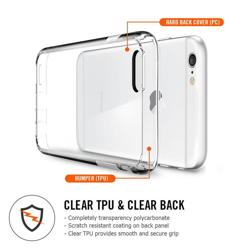 Spigen Ultra Hybrid Case iPhone 6 Black - 7