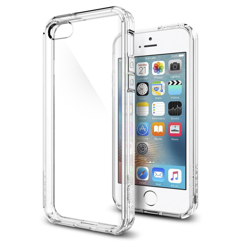 Spigen Ultra Hybrid Case iPhone SE / 5S / 5 Clear - 4