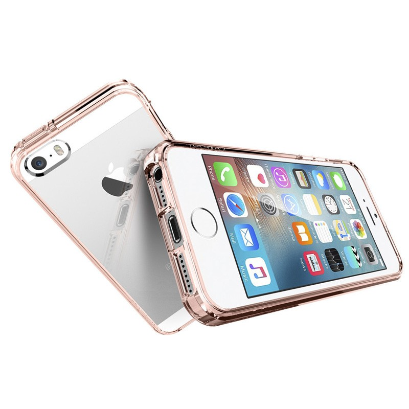 Spigen Ultra Hybrid Case iPhone SE / 5S / 5 Rose Gold - 3