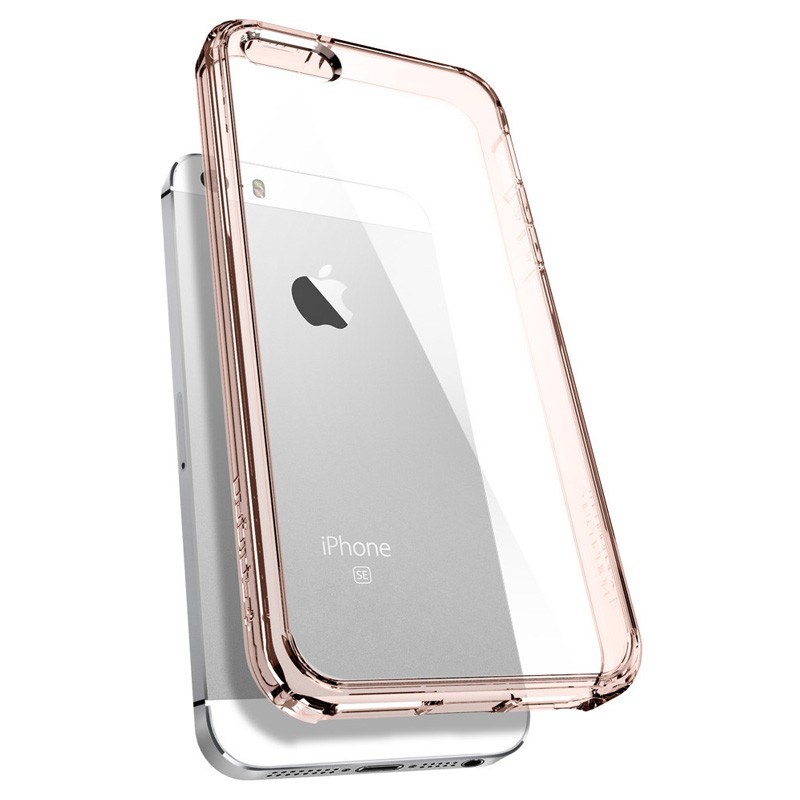 Spigen Ultra Hybrid Case iPhone SE / 5S / 5 Rose Gold - 5