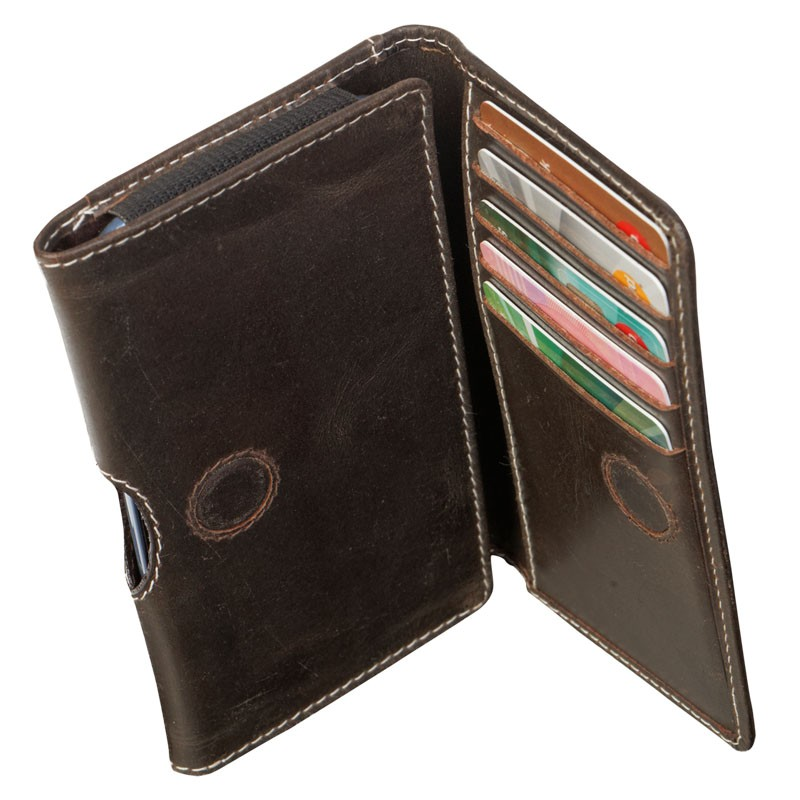 DBramante Leather Wallet iPhone SE/5S/5 4.3 inch Hunter Dark - 1