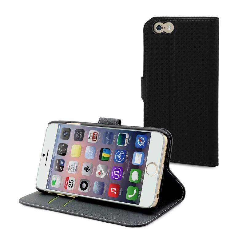 Muvit Wallet Case iPhone 6 Plus Black - 1