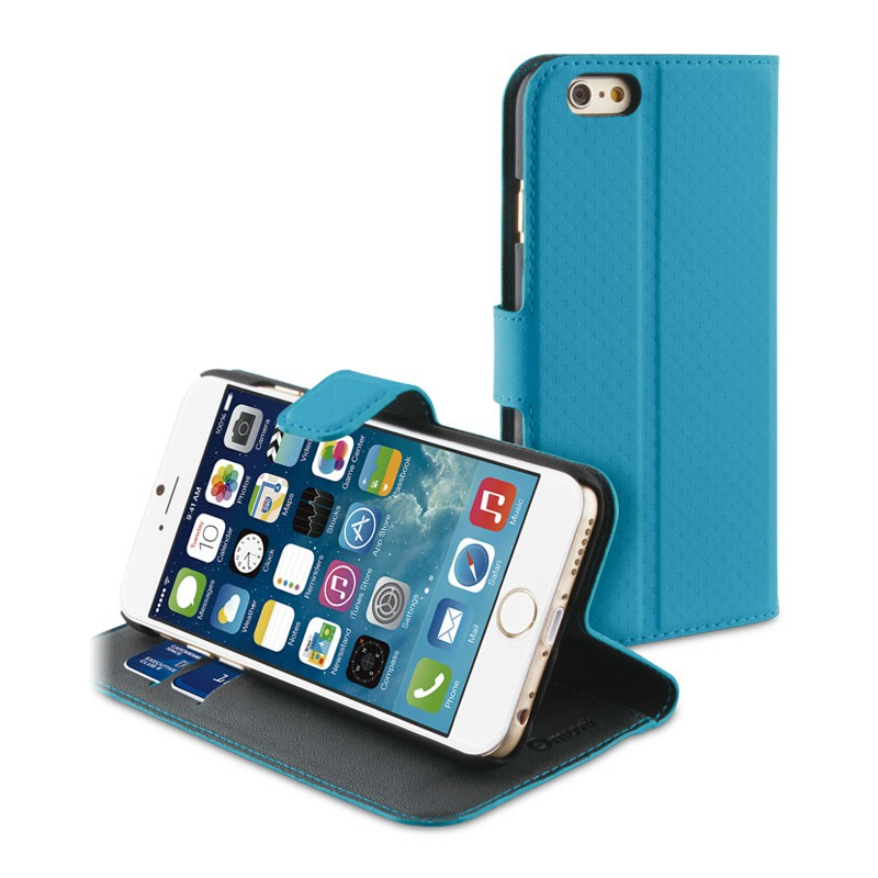 Muvit Wallet Folio iPhone 6 Turqoise - 1