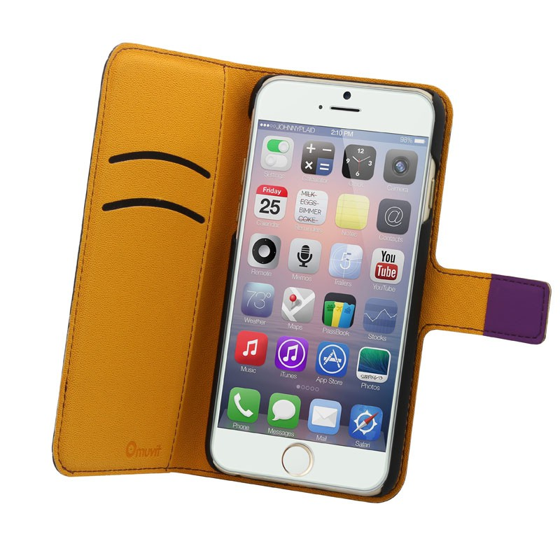 Muvit Wallet Case iPhone 6 Plus Purple - 2