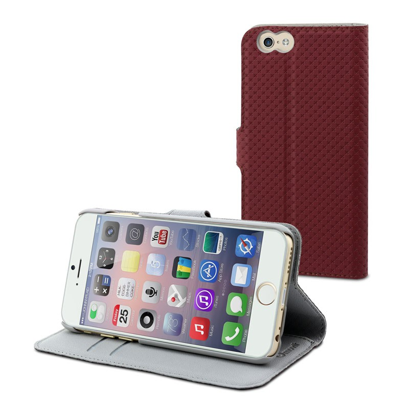 Muvit Wallet Folio iPhone 6 Red - 1