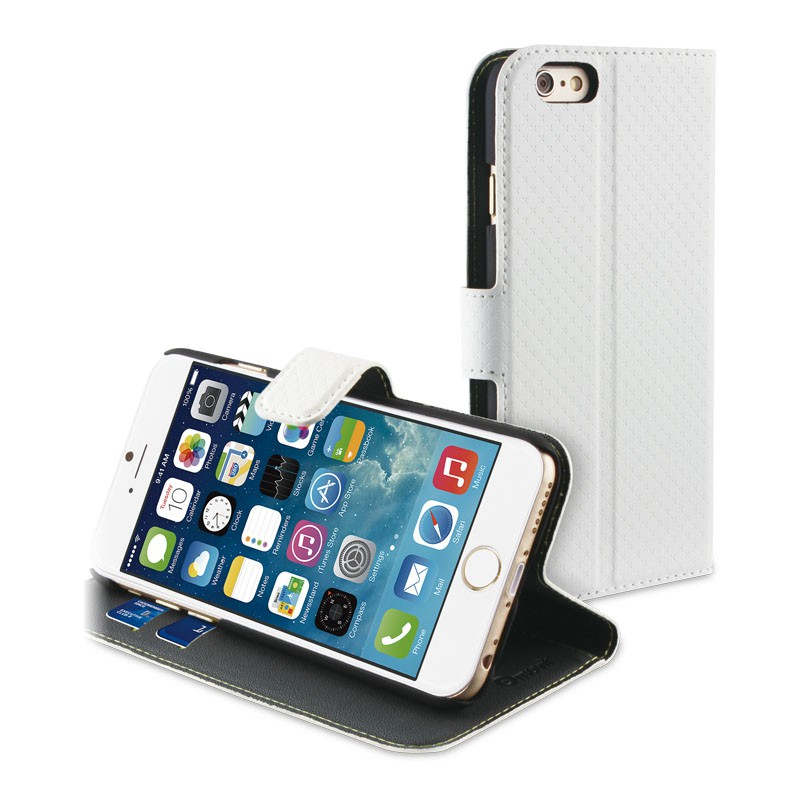 Muvit Wallet Case iPhone 6 Plus White - 1