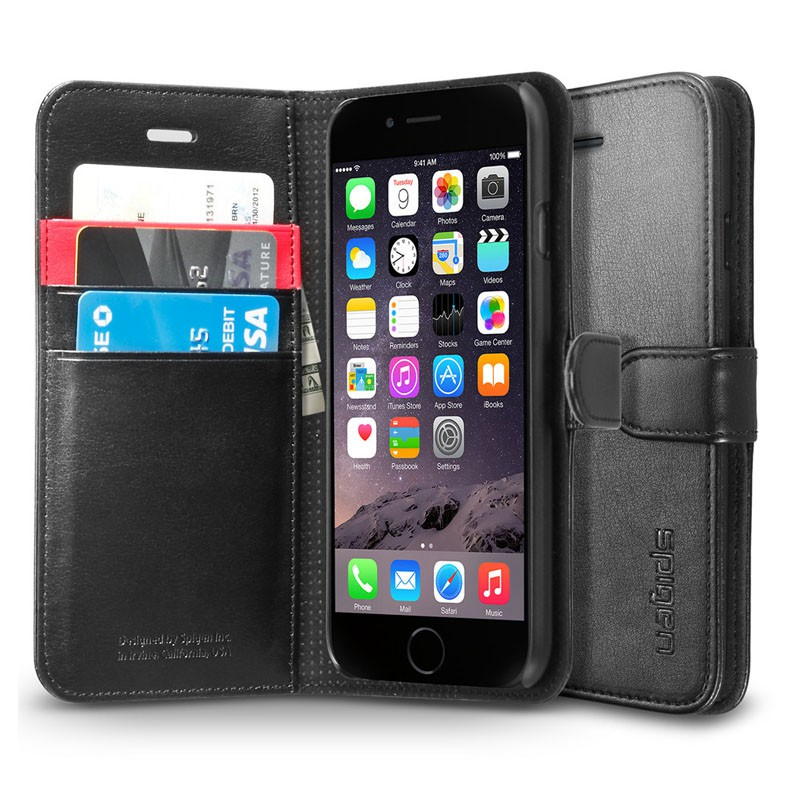 Spigen Wallet S Case iPhone 6 Black - 1