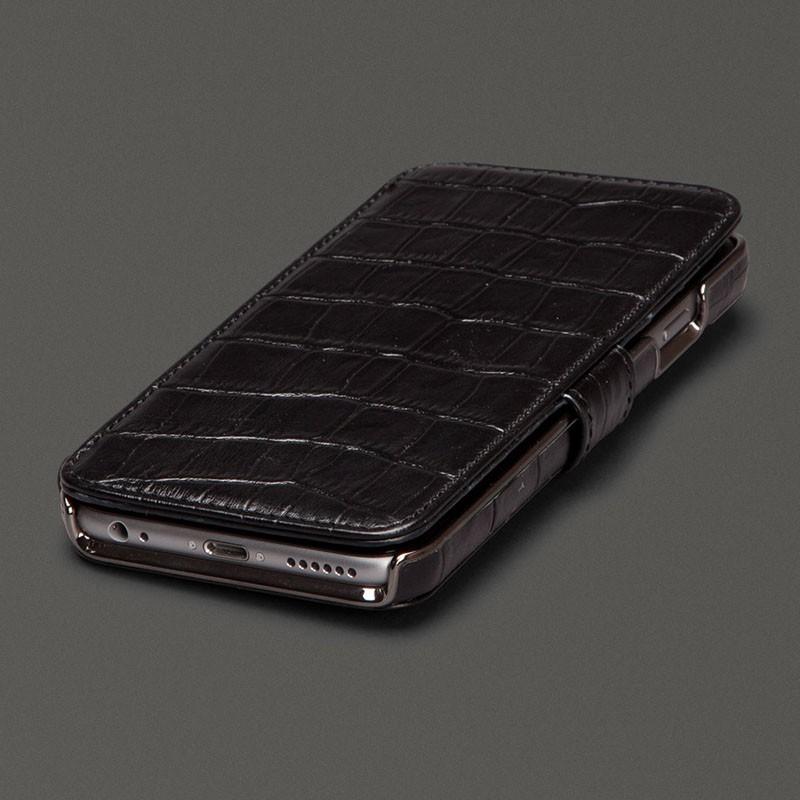 Sena  Wallet Book Classic iPhone 6/6S Croco Black - 1
