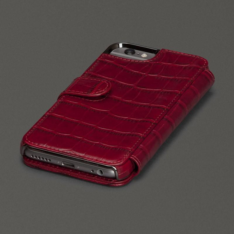 Sena  Wallet Book Classic iPhone 6/6S Croco Black - 2