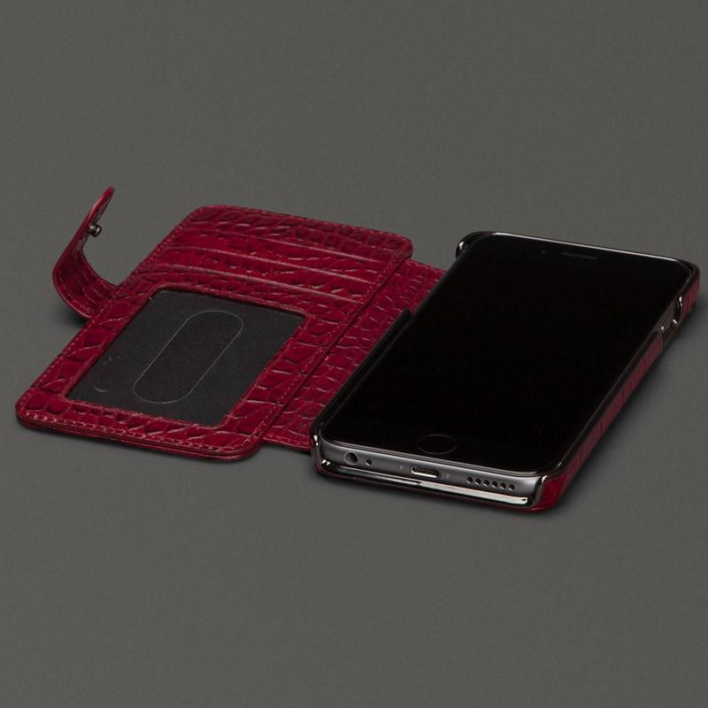 Sena  Wallet Book Classic iPhone 6/6S Croco Black - 6