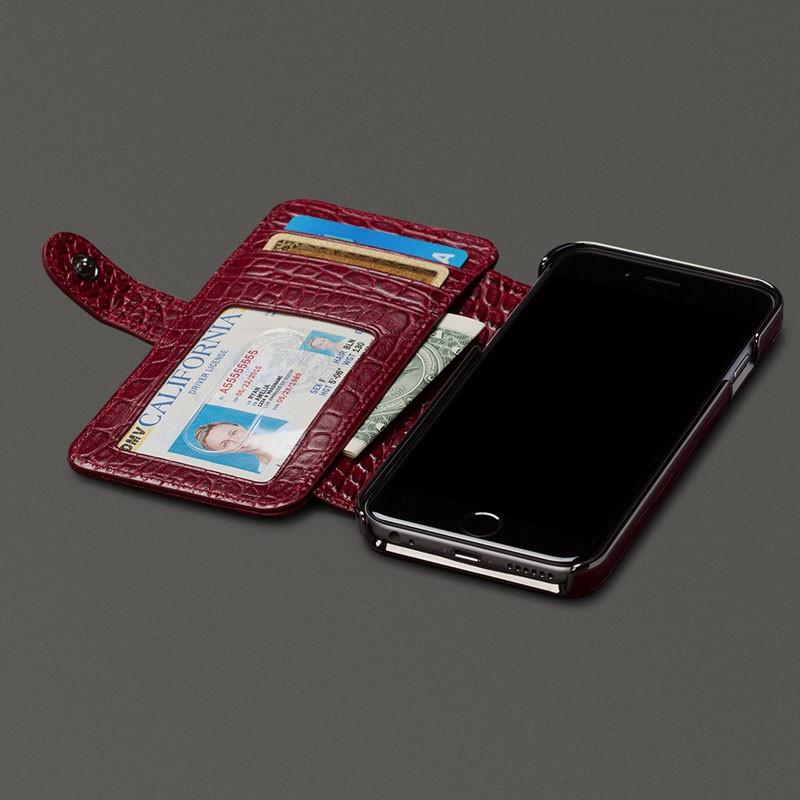Sena  Wallet Book Classic iPhone 6/6S Croco Black - 7