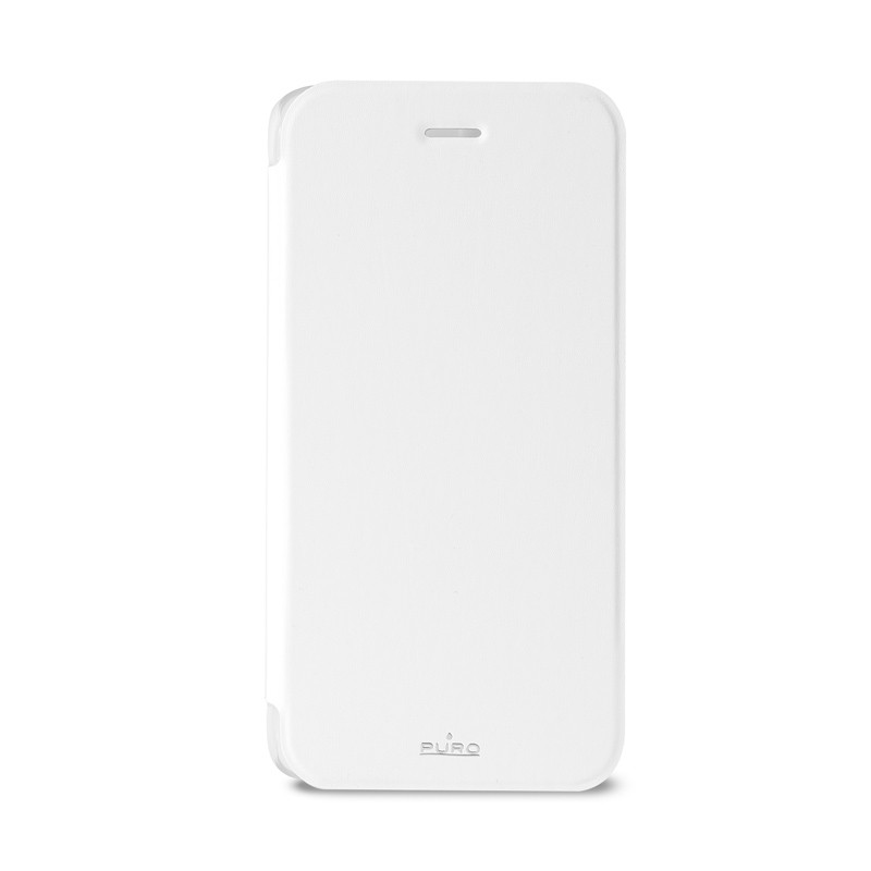 Puro - Eco Leather Wallet iPhone 6 Plus White - 1