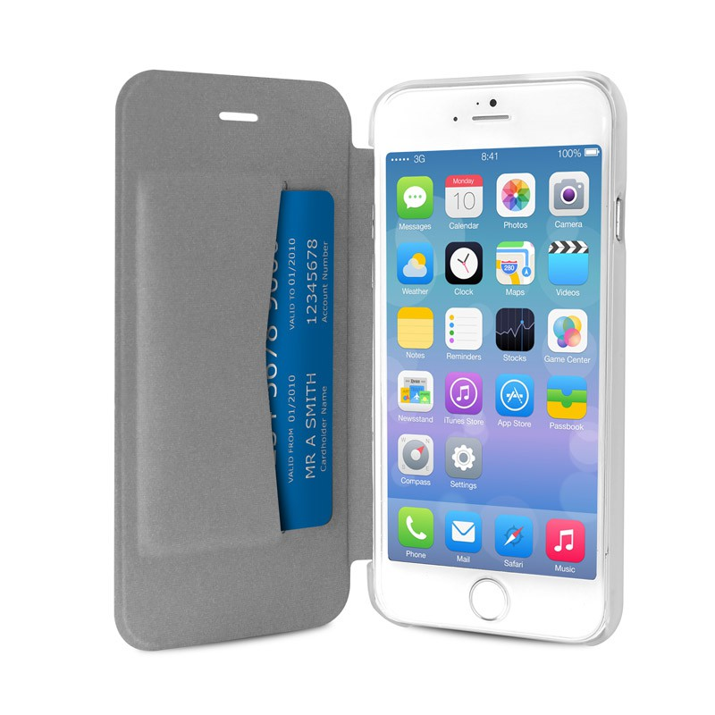 Puro - Eco Leather Wallet iPhone 6 Plus White - 3
