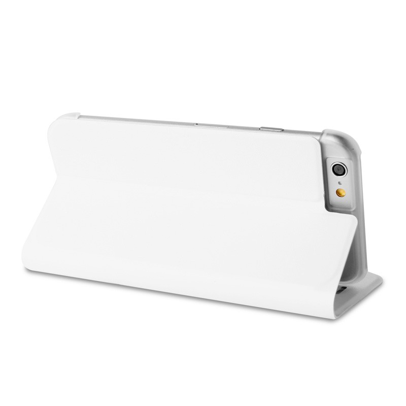 Puro Eco Leather Wallet iPhone 6 White - 6
