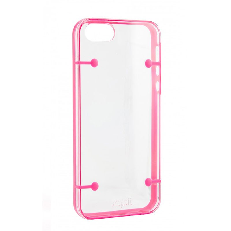 Xqisit iPlate Style iPhone 5 (Pink-Clear) 01