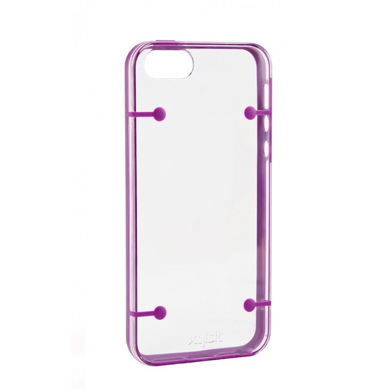 Xqisit iPlate Style iPhone 5 (Purple-Clear) 01