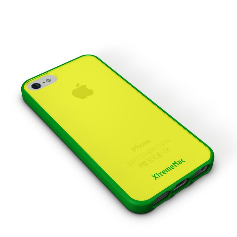 XtremeMac - Microshield Accent iPhone 5 (Yellow-Green) 01