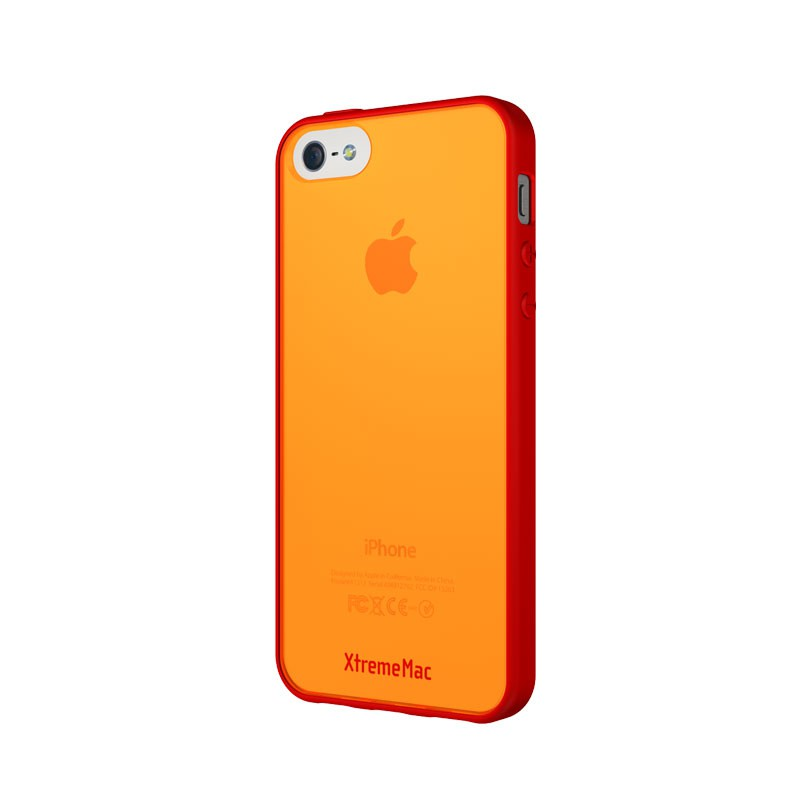XtremeMac - Microshield Accent iPhone 5 (Red-Orange) 02