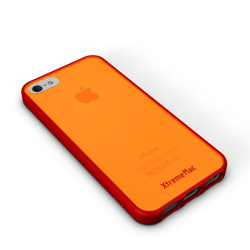 XtremeMac - Microshield Accent iPhone 5 (Red-Orange) 01