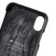 Melkco - Holmes Series Fine Grid Card Slot iPhone X/Xs Zwart/Wit 02