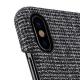 Melkco - Holmes Series Fine Grid Card Slot iPhone X/Xs Zwart/Wit 04