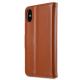 Melkco - Premium Leather Case voor iPhone X / XS Bruin 02