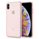 Spigen - Liquid Crystal Glitter Case iPhone XS Max Rose Transparant 01