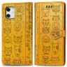Mobiq - Emossed Animal Wallet Hoesje iPhone 12 / iPhone 12 Pro 6.1 inch