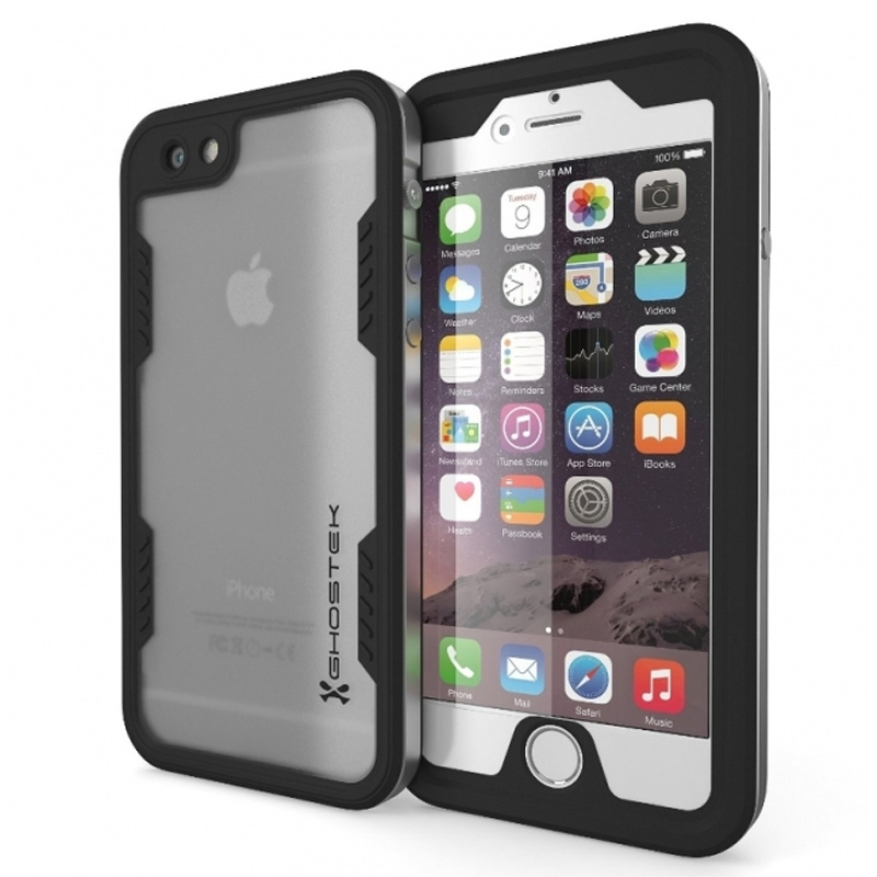 Ghostek Atomic 2.0 Waterproof Case-Hoesje Apple iPhone 6 Plus-6S Plus Silver