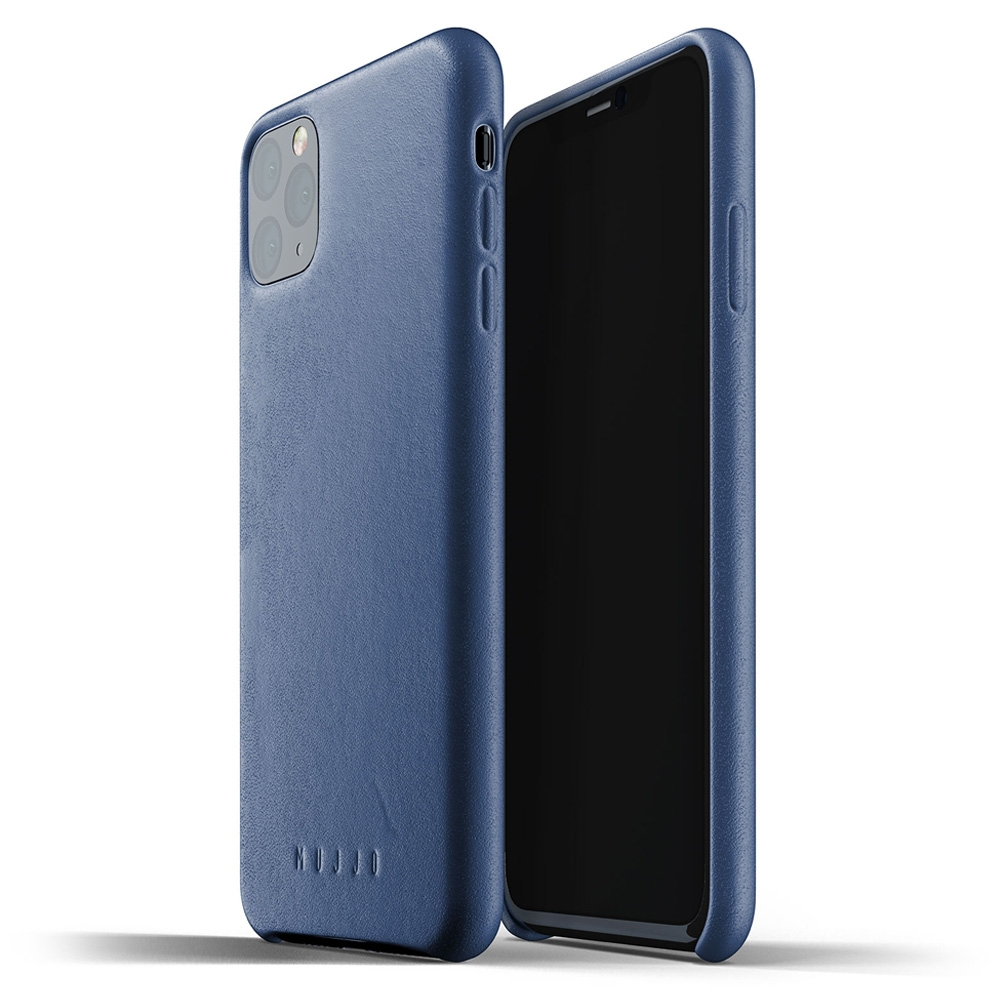 Mujjo Premium Full Leder iPhone XI Max Cover Blauw