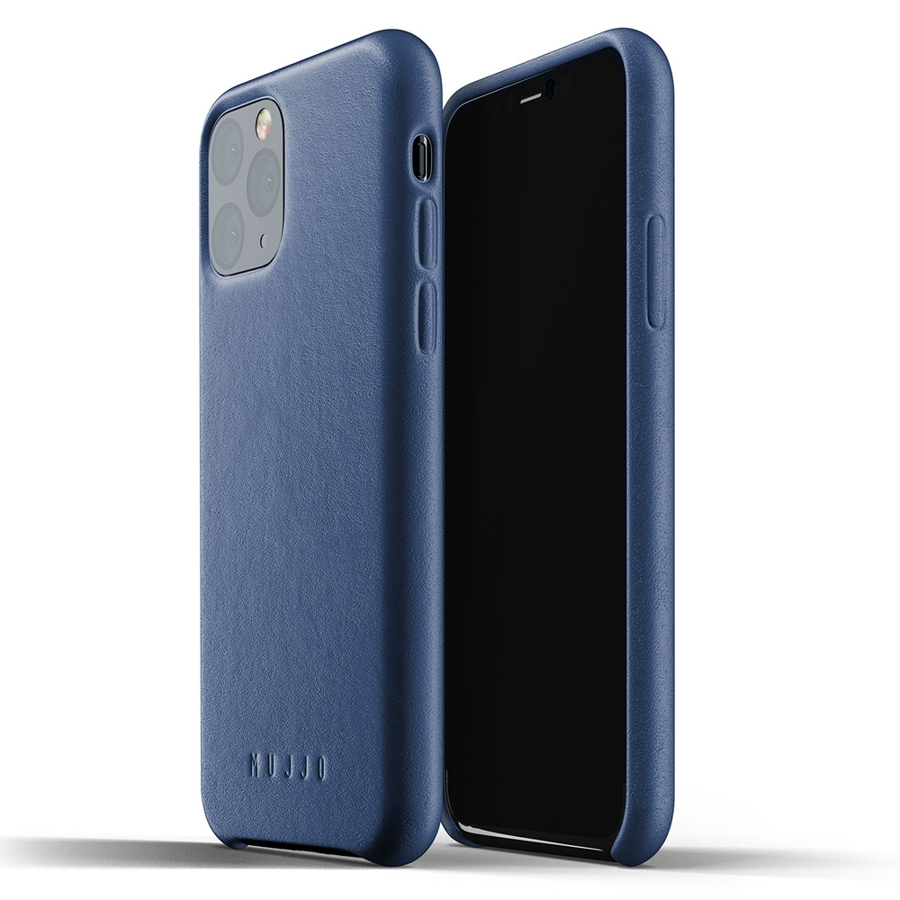 Mujjo Premium Full Leder iPhone XI Cover Blauw
