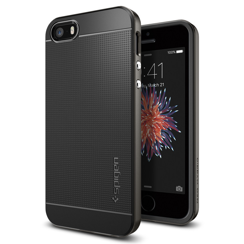 Spigen iPhone Backcover Geschikt voor model (GSM's): Apple iPhone 5, Apple iPhone 5S Grijs