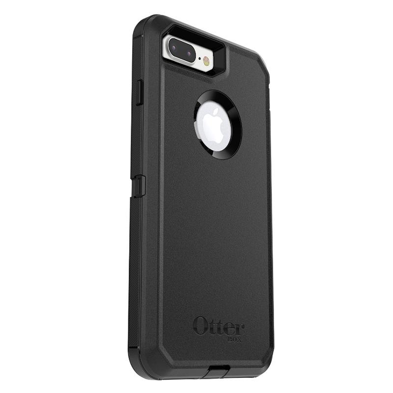 Zwarte Defender Rugged Case voor de iPhone 8 Plus-7 Plus-6(s) Plus