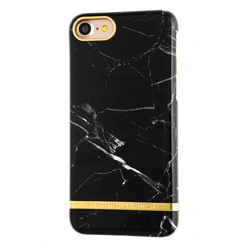 Richmond & Finch Marble Glossy Apple iPhone 7 Zwart