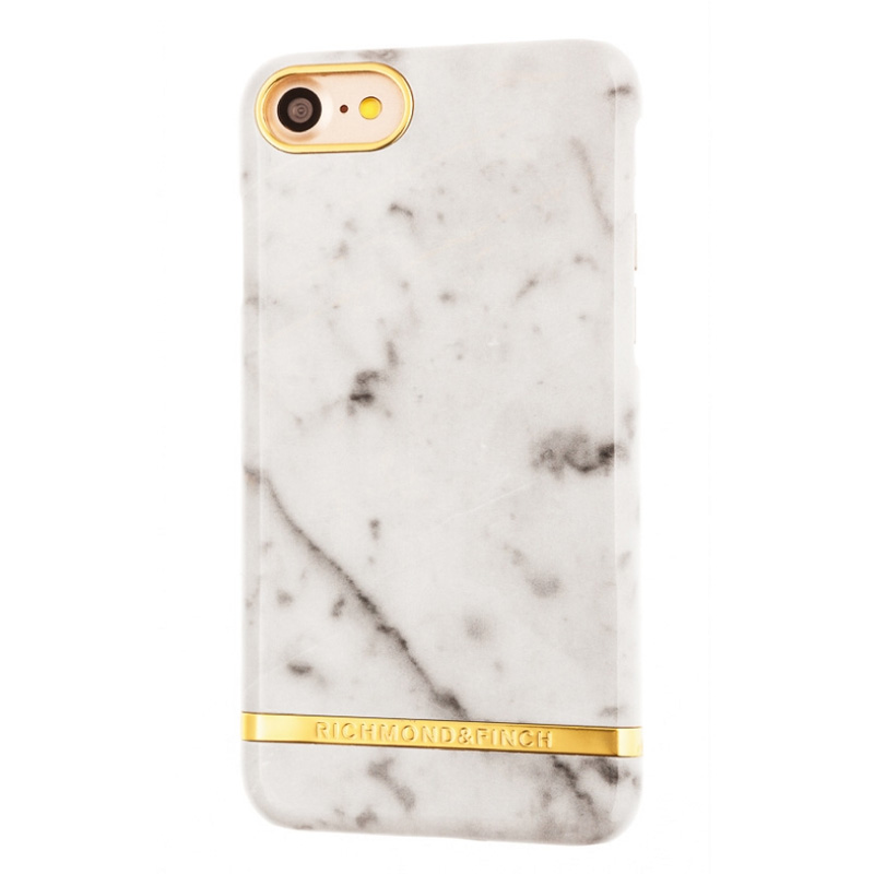Richmond & Finch Marble Glossy Apple iPhone 7 Wit