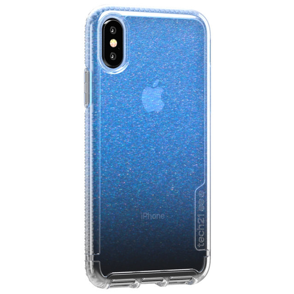 Tech21 Pure Shimmer iPhone Xs Clear-Blauw