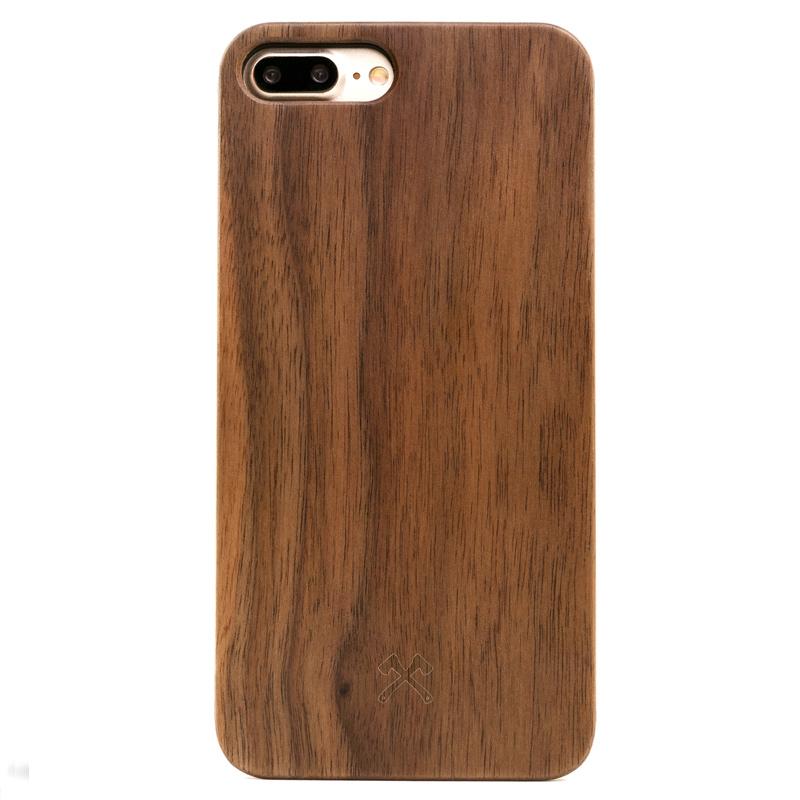 Woodcessories EcoCase Classic iPhone 7 Plus walnoot + zwart
