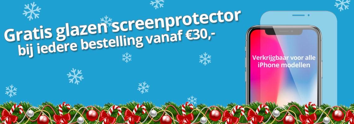Gratis iPhone Screenprotector - Kerst actie